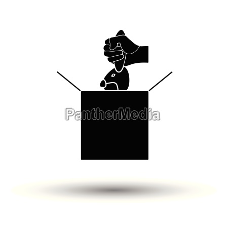 rabbit, in, magic, box, icon - 25551324