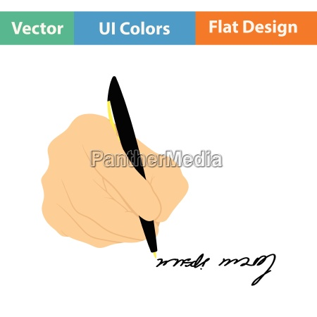 signing hand icon