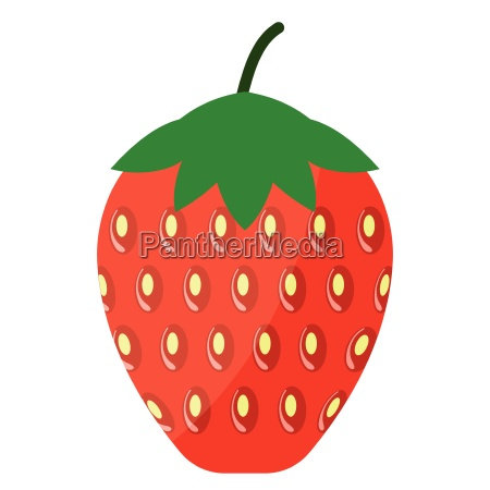 flat design icon of strawberry in