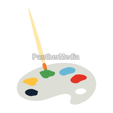 school palette with brush icon