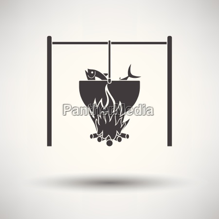 icon of fire and fishing pot