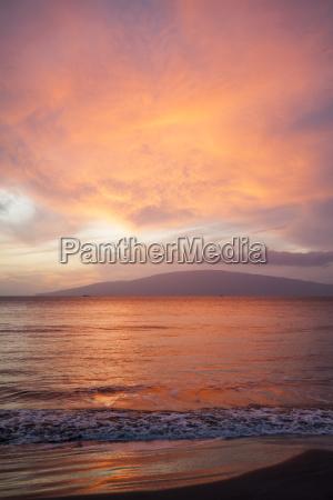 pink orange and yellow sunset lanai
