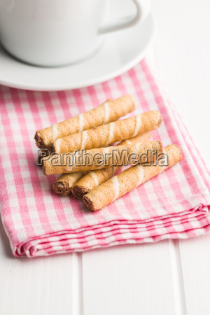 sweet chocolate waffle rolls