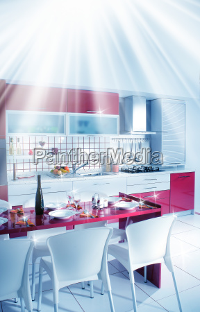 modern and clean domestic kitchen