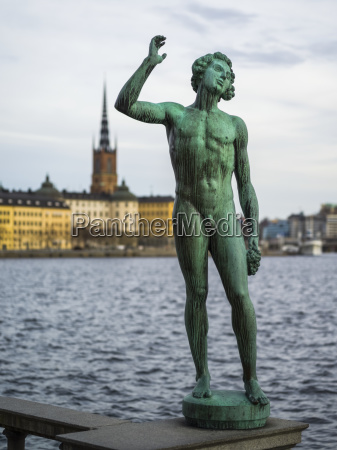 statue of a naked man on