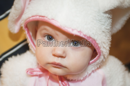 portrait of a baby in a