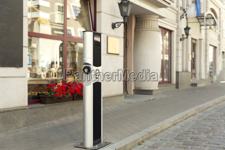 electric vehicle charging ev station with