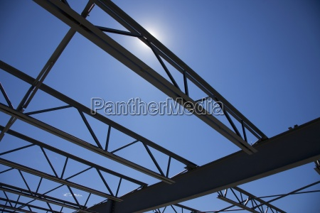 low angle view of building framing