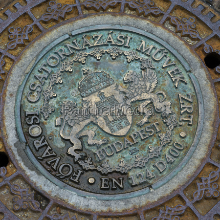 an emblem for budapest on a