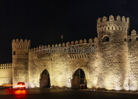 old city fortress gates landmark in