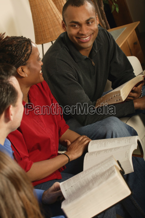 bible study group in a living