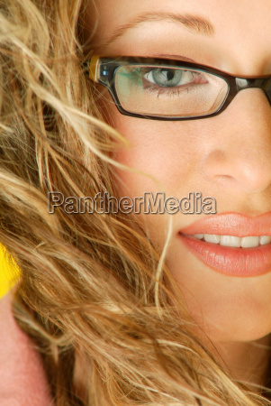 trendy glasses and perfect cosmetics