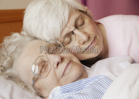 grandma gets a cuddle