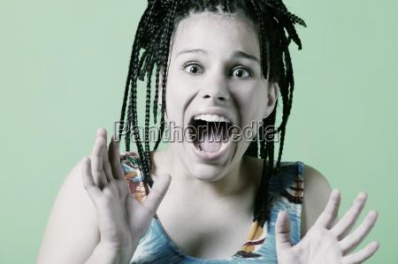 teenager screams