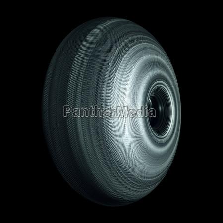 steel roller wheel isolated on black