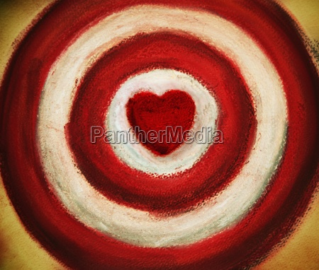 target with heart