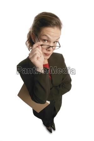 inquiring businesswoman
