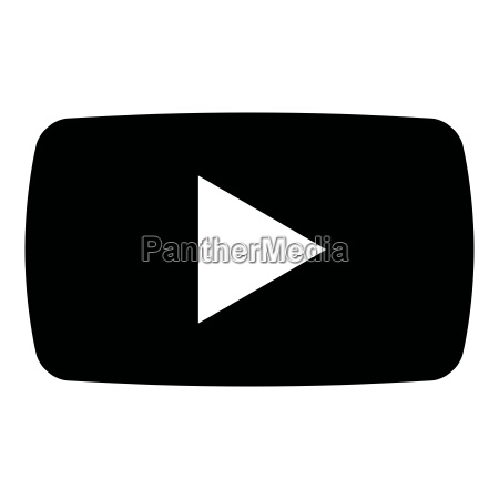 play button icon black color illustration