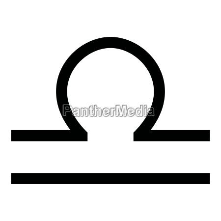 libra symbol zodiac icon black color