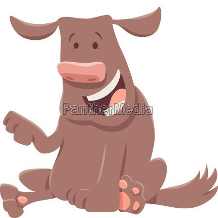 happy dog cartoon character