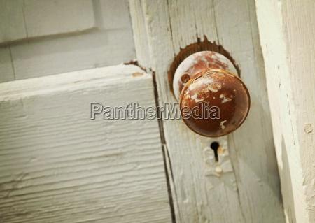 old door and handle