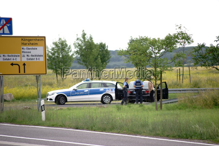 police check on the roadside