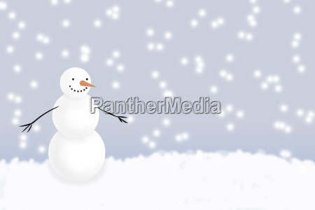 snowman in winter
