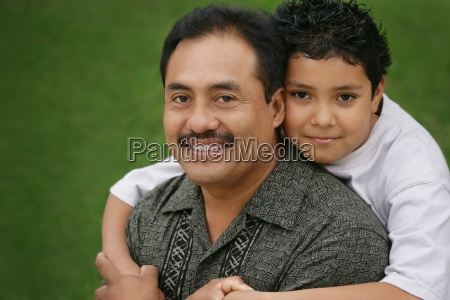 father and child together