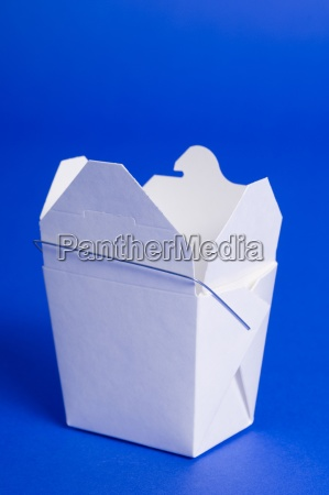 white chinese takeout container