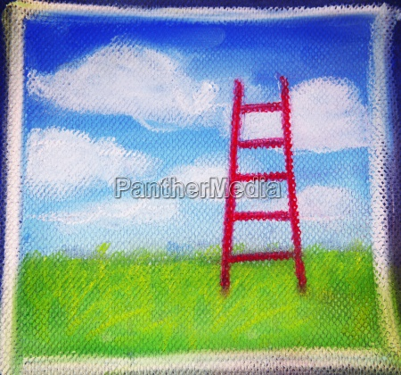 sketch of a ladder to the