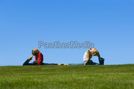 two young girls with flexibility
