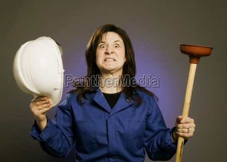 frustrated plumber