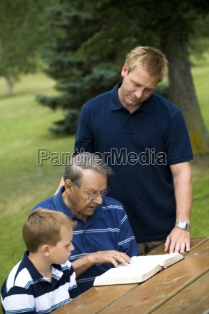 three generations reading the bible