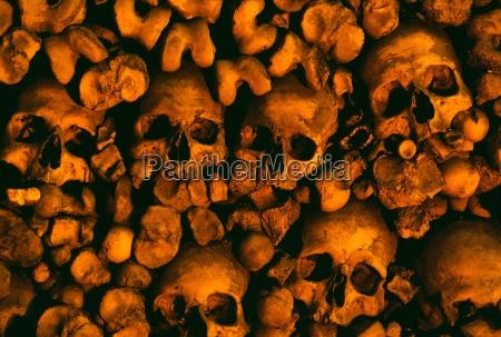 human skulls and bones ossuary chapel