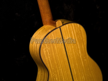 backside of a guitar
