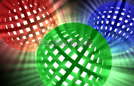 brightly illuminated spheres