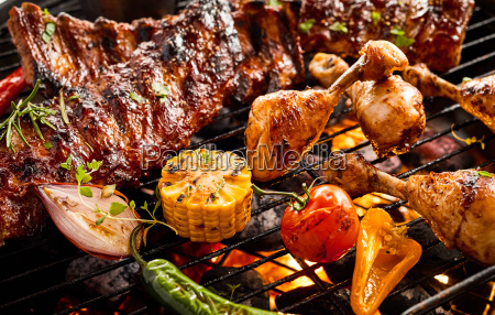 portions of spicy spare ribs and