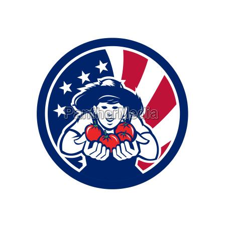 american organic grown produce usa flag