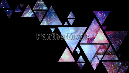 abstract galaxy geometric background elements of