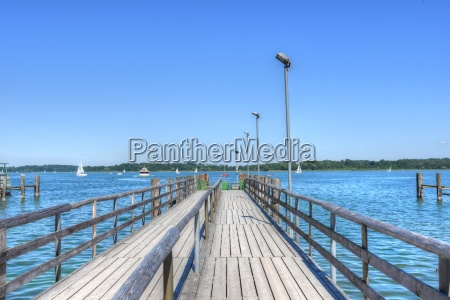 chiemsee prien boat dock jetty slope