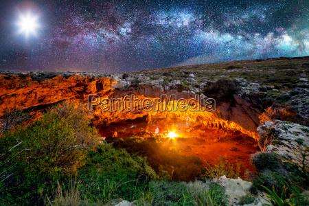 ghajn tuta cave by night