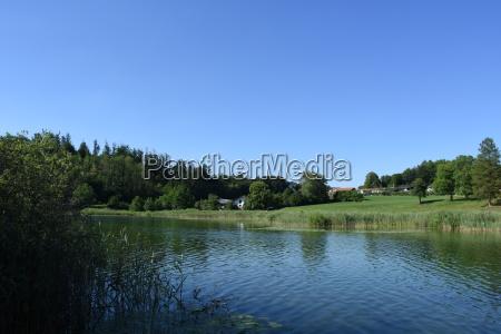 monastery lake seeon village fish sea