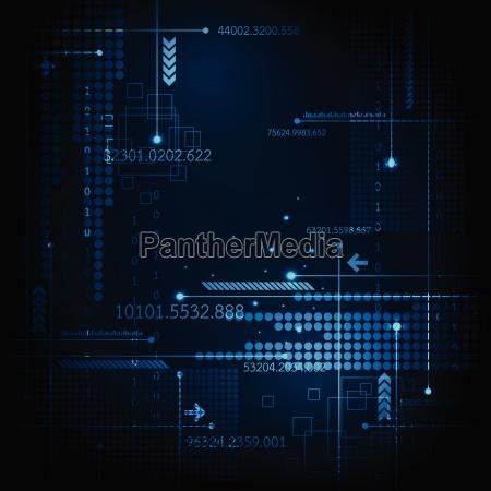 vector digital technology on a dark