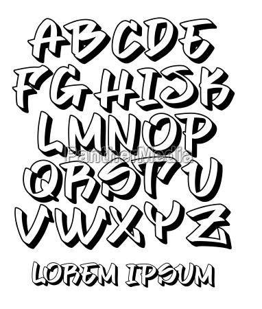 graffiti font 3d hand written