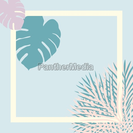 pastel tropical garden picture frame