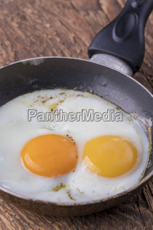 close up of an egg in