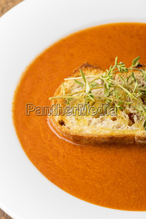 bread white bread oxidized tomato soup
