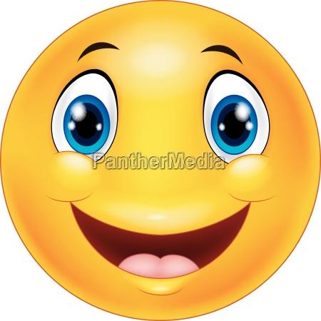 happy smiley emoticon face on white