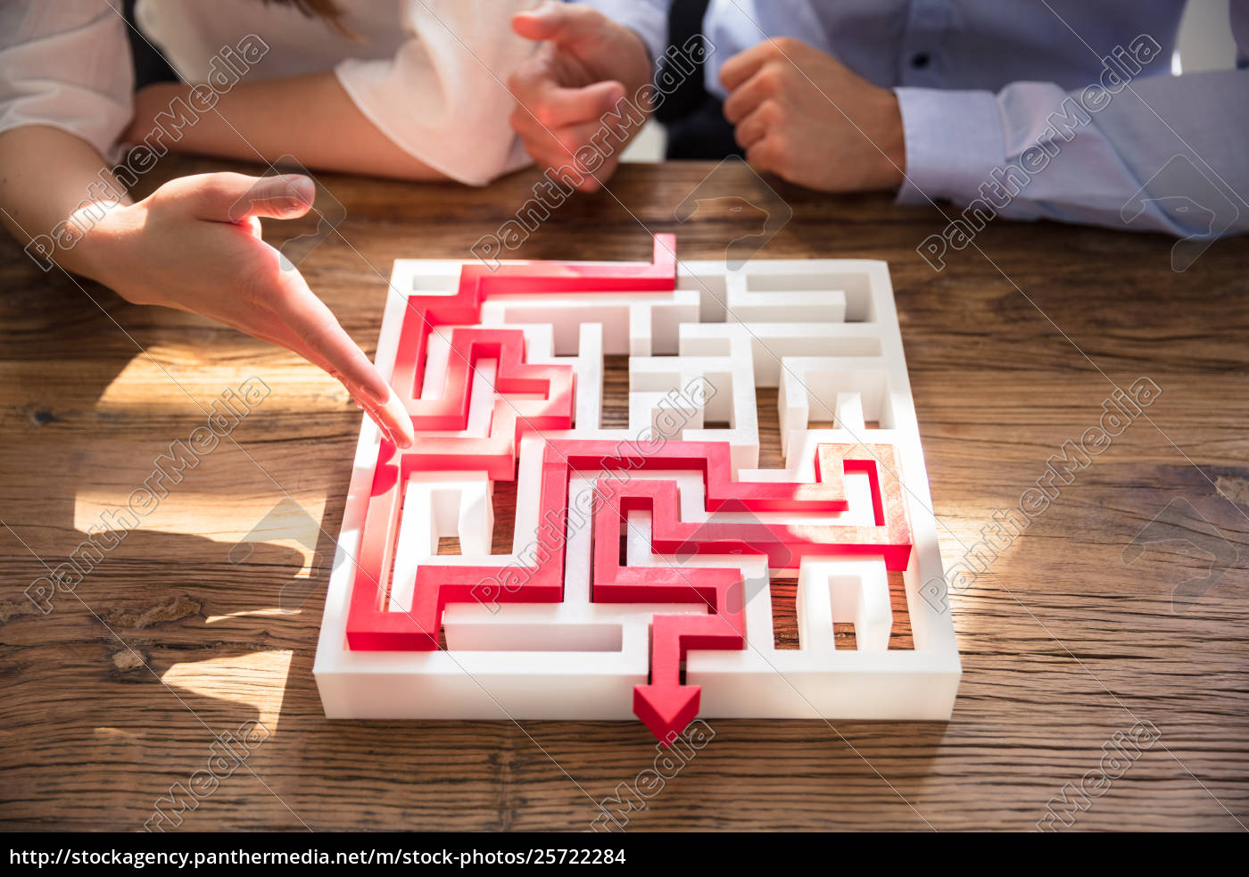 close-up, of, maze, puzzle, with, red - 25722284