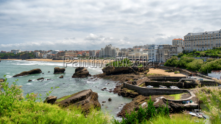 view of biarritz beach by the